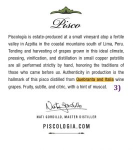 acholado, how to read a pisco label, piscologia, peruvian pisco, pisco, best pisco