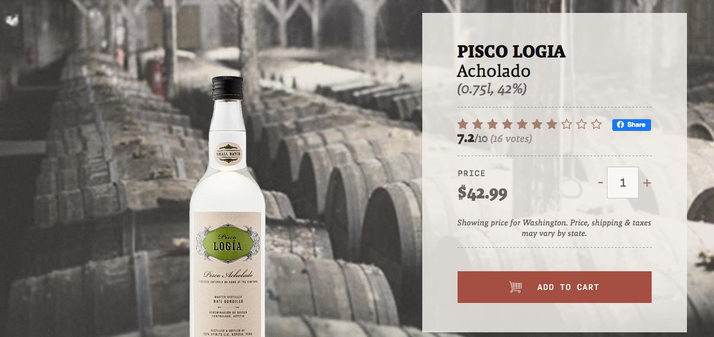 ecommerce pisco, buy pisco online, buy pisco, pisco flaviar, drizly pisco