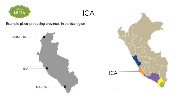 pisco ica, map ica D.O., mapa pisco en ica, ruta pisco peru, pisco route peru, map pisco regions peru