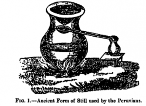 pre columbian still, peru distillation