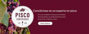 Certificado pisco, pisco certificate spanish
